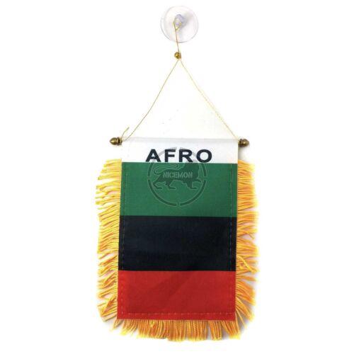 "Afro Mini Banner Flag Tassle Tassel Africa Marcus Garvey Rasta African 4""x6"""