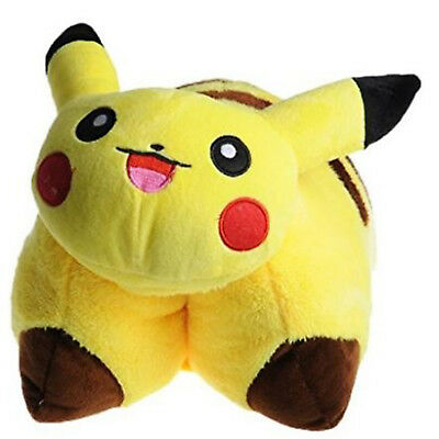 "17"" Soft Toy Pokemon Plush Pikachu Transforming Pillow Pet Monster Doll for Kids"