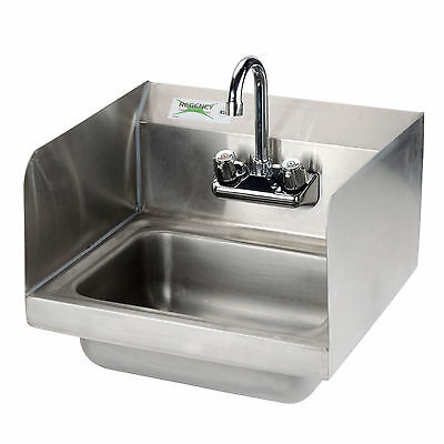 17 X 15 Hand Wash Sink Commercial Restaurant Sidesplash Stainless Steel Nsf