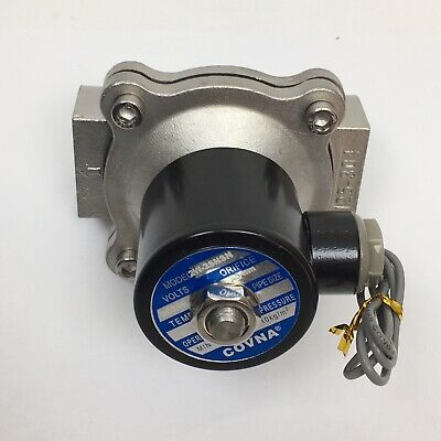 Covna Response Fluid Control Solenoid Valve Electric For Air And Water 1 Inch