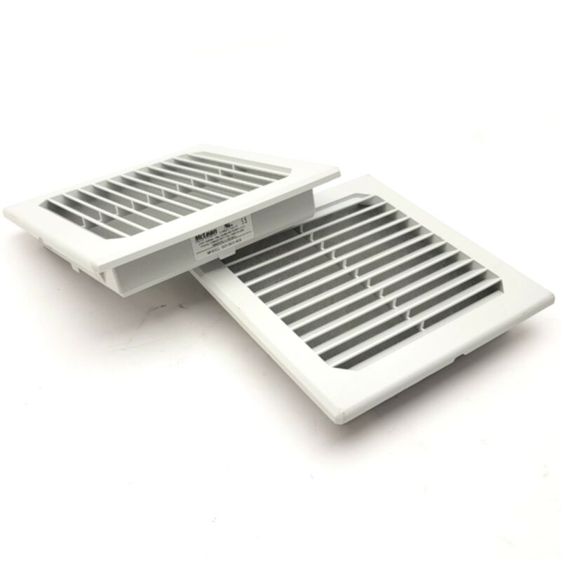 """Lot Of 2 McLean SG-0500-404 Enclosure Exhaust Grill 5"""" x 5"""", IP54, RAL 7035"""
