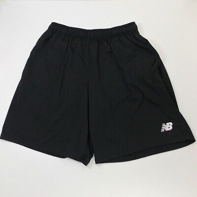 New Balance Gym Shorts Mens Large Black Running Sports Athletic Pockets