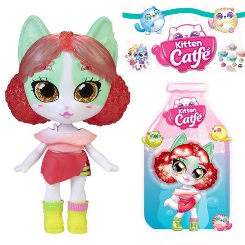 Jakks Series 5 Soda Pop PURRLIVIA FLUFFSON Kitten Catfe *Light Up Hair* Doll Red