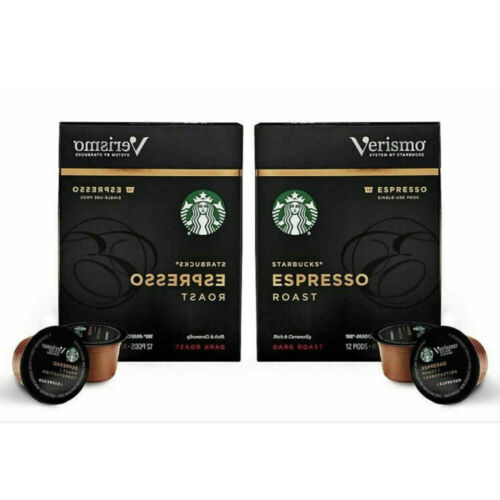 Starbucks Verismo Espresso Roast Espresso Single Serve Verismo 24 Pods EXP 05/21