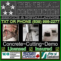 Concrete cutting,removal,disposal