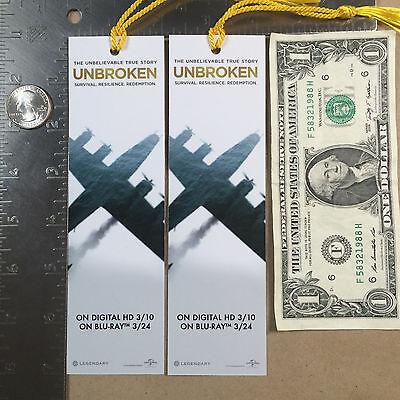Lot of 2 UNBROKEN Bookmarks WW2 Angelina Jolie
