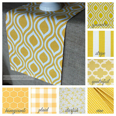Yellow Table Runner Spring Easter Home Decor Table Centerpiece Dining Linens](Spring Table Runners)