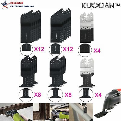 48pcs Oscillating Multi Tool Saw Blades Kit For Bosch Fein Multimaster Makita