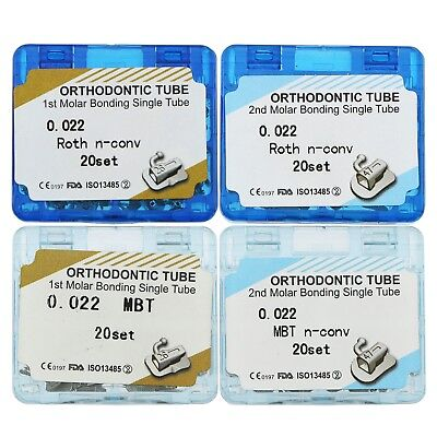 Dental Orthodontic Bonding Roth Mbt 022 1St 2Nd Molar Single Buccal Tubes   Size