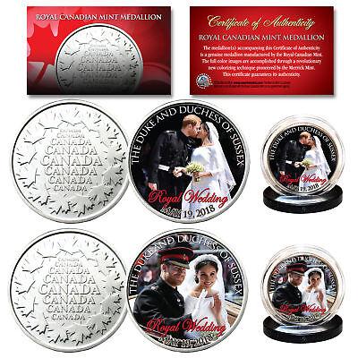 Prince Harry   Meghan Markle Official Royal Wedding Photos Rcm 2 Coin Set