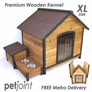 Puppy Dog Wooden Kennel Extra Large Outdoor Pet Timber Wood House Adelaide CBD Adelaide City Preview