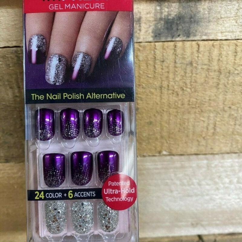 Impress Gel Manicure Press on Nails one step Kiss Purple 60660 G12