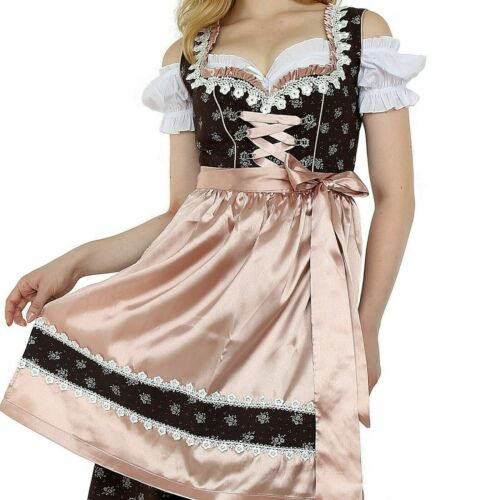 NEW! US sz 16.Germany,German,Trachten,Oktoberfest,Dirndl Dress,3-pc.Pale Pink