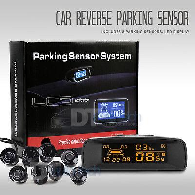 Auto Parking Sensor - 8 Parking Sensors LCD Car Auto Backup Reverse Rear Radar System Alert Alarm Kit