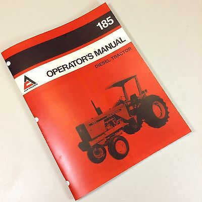 Allis Chalmers 185 Operators Owners Manual Diesel Tractor Maintenance Operation