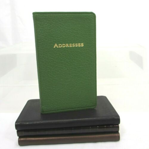 "Takashimaya Address Book 3x5"" Soft Leather Cover Personal Pocket Medium Green"