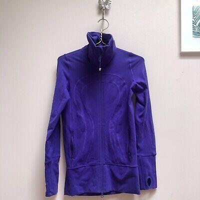 Lululemon In Stride Jacket Purple Size 2 Women Half Zip Base Layer