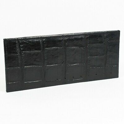 Black Real Crocodile Alligator Leather Belly Skin Mens Slim Credit Card Wallet.