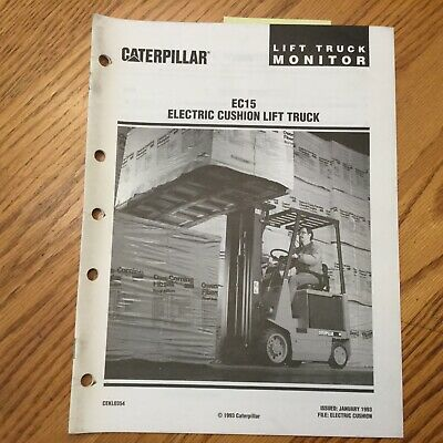 Cat Caterpillar Ec15 Electric Fork Lift Truck Monitor Sales Brochure Manual Book