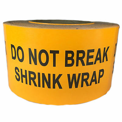 Orange Do Not Break Shrink Wrap Label Sticker 3 By 5 - 500 Ct Roll - Sl070f