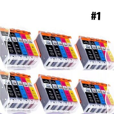 250 251 XL Ink Combo for Canon PGI-250 CLI-251 MG5520 MX922 MG5620 MG6620(30pk)