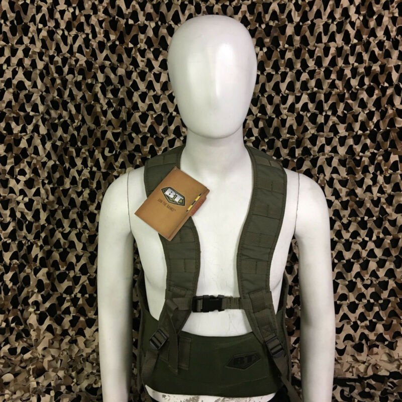 NEW BT Battle Tested STATIC Molle Tactical Paintball Vest - Olive Green - L/XL