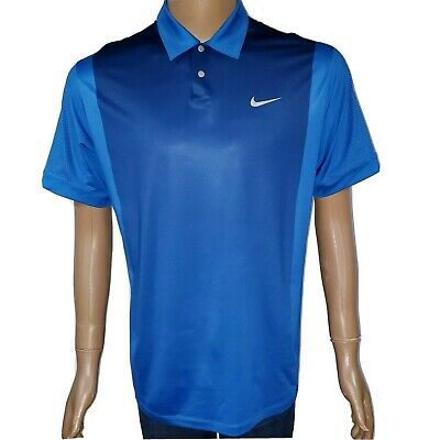 Tiger Woods Collection Mens Medium Golf Polo Shirt Nike Snap Vented Short Sleeve