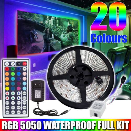 LED Strip Lights 5050 RGB Waterproof With 44Key Remote Contr
