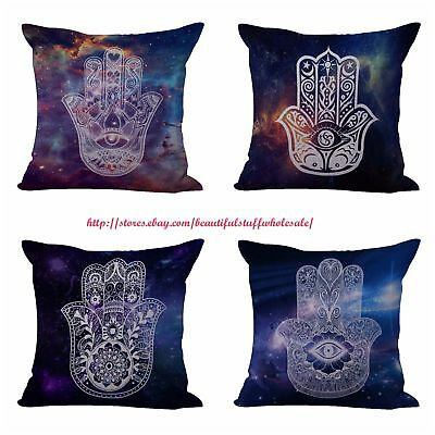 US SELLER-4pcs expert in decor and accessories cushion covers hamsa hand