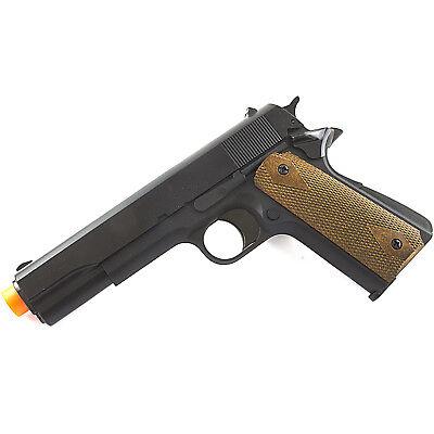 HFC AIRSOFT M 1911 METAL GREEN GAS NON BLOWBACK HAND GUN PISTOL w/ 6mm BB BBs (1911 Airsoft Gas Blowback Pistol)