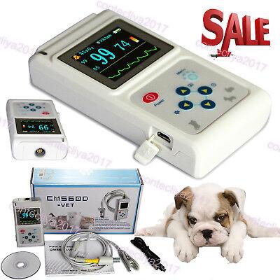 Veterinary Handheld Pulse Tester Oximeter Blood Oxygen Spo2 Tongue Probe Catdog