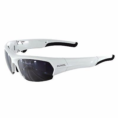 NEW Buhel SG04 SpeakGlass Sunglasses - White - featuring Bluetooth technology!