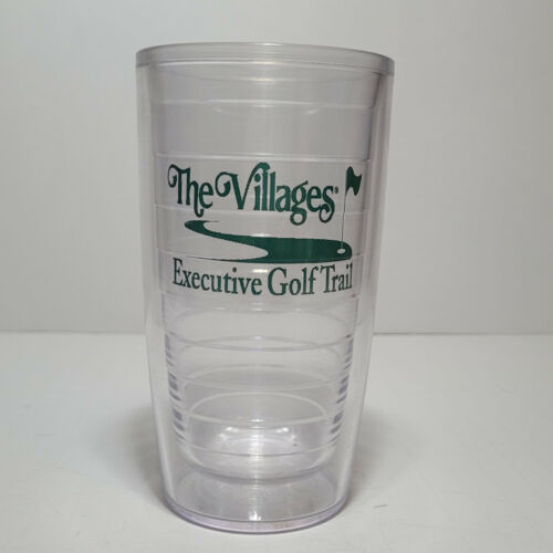 (1) TERVIS TUMBLER 16oz Clear Cup Golf Villages Executive no lid -  Nice!