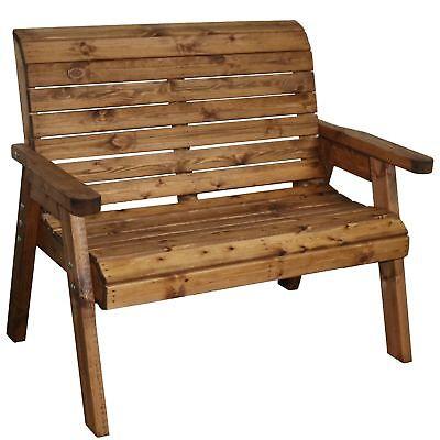 Garden Furniture - Garden Furniture 2 Seater High Back Bench Wooden Wood Supplied Flat Packed