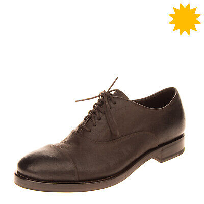 RRP€365 HENDERSON BARACCO Leather Oxford Shoes EU39 UK5 US6 HANDCRAFTED in Italy