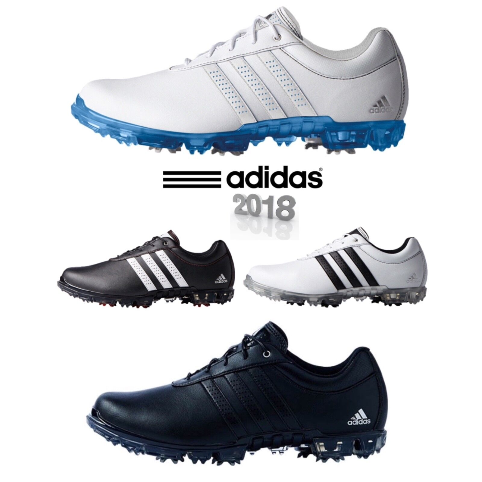 Details about Adidas 2018 Golf Mens Adipure Flex WD Golf Shoes Lightweight  Waterproof