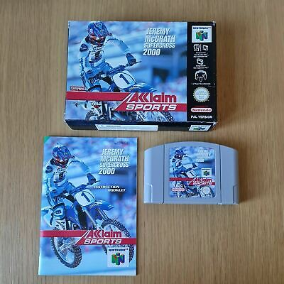 JEREMY MCGRATH SUPERCROSS 2000 NINTENDO 64 N64 PAL GAME BOXED COMPLETE W/MANUAL