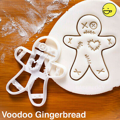 Voodoo Doll Gingerbread Man cookie cutter | Christmas Halloween Easter cookies , used for sale  Shipping to Canada