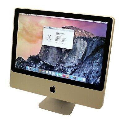 "Apple A1224 IMac 7,1 20"" Core 2 Duo 2.6GHz/8GB DDR3/320GB/OSX 10.10 & Warranty"