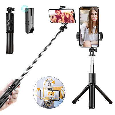 extendable selfie stick tripod phone holder bluetooth