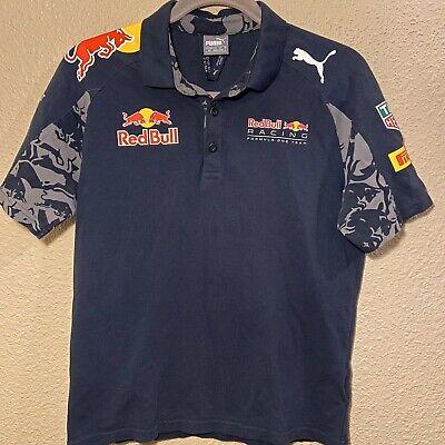 Red Bull Racing F1 Formula One Team PUMA Official Polo Shirt Navy Mens S