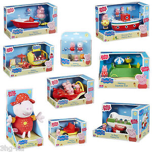peppa pig vacances toys ensemble de jeux figurines voiture bateau avion parlant ebay. Black Bedroom Furniture Sets. Home Design Ideas