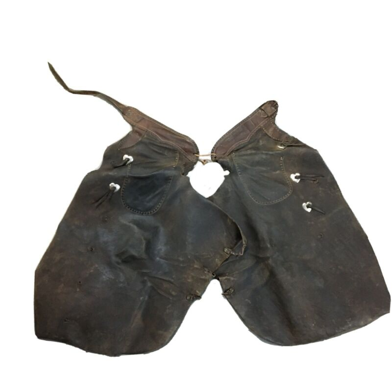 Vintage Batwing Chaps With Heart Shaped Conchos