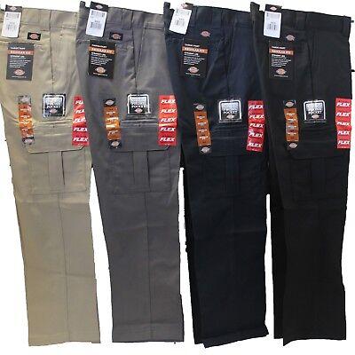 Mens DICKIES Flex WP595 Regular Fit Straight Leg Work Uniform Cargo Pocket (Pants)