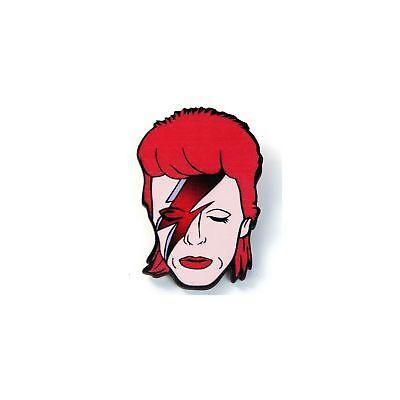 David Bowie Ziggy Stardust Wooden Badge/Brooch/Lapel Pin Gift