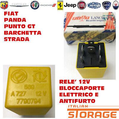 Fiat Punto Gt Barchetta Panda Rele '12V Bloccaporte Eléctrico Antirrobo 7790794