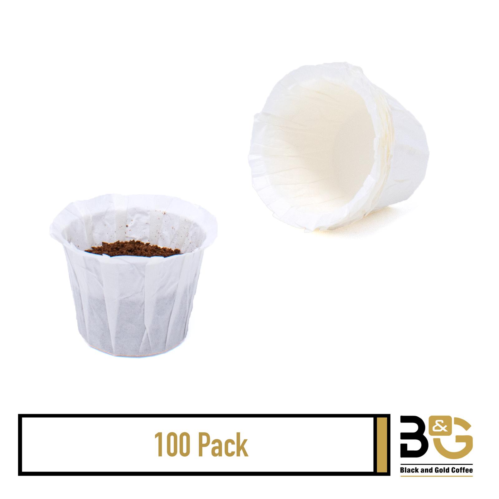 100, 200, 300 - Disposable K Cup Paper Coffee Filters Keurig