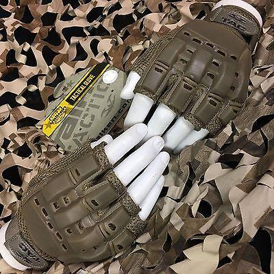 NEW Valken V-Tac Half Finger Paintball Airsoft Gloves - Tan - X-Large/XX-Large