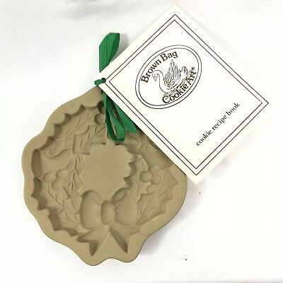 Brown Bag Cookie Art Stamp Christmas Wreath 1988 w/Recipe Booklet Never Used](Christmas Wreath Recipe)
