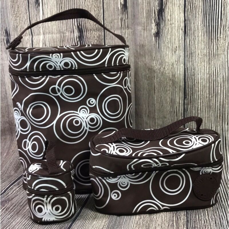 Amy Coe 3 Piece Insulated Portable Baby Food Bottle Tote Bags Carrying Case